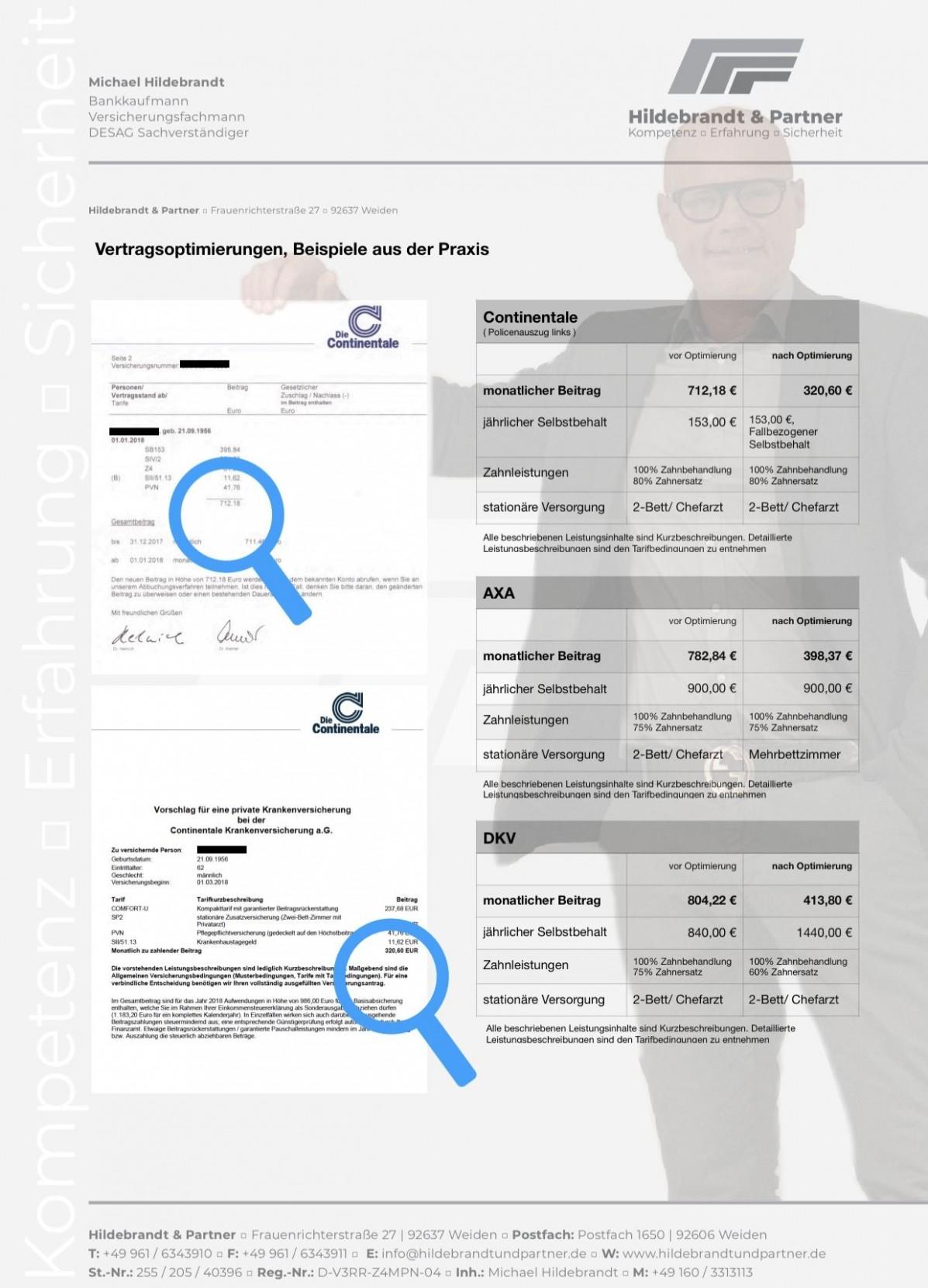 APP Hildebrandt Hildebrandt&Partner Versicherungsmakler Weiden Michael Hildebrandt Krankenversicherung Auslandsversicherung Zahnzusatzversicherung BU Unfallversicherung 92637